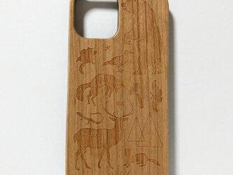 ウッド iphone【野生動物】スマホケースの画像