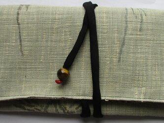 5773 麻の着物で作った和風財布・ポーチ#送料無料の画像