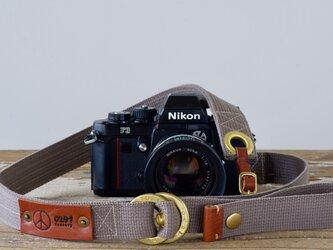 Ring strap リングカメラストラップ(グレー)受注生産の画像