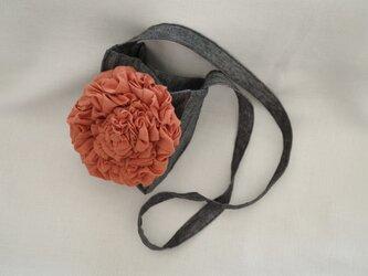 花のミニショルダーバッグ・オレンジの画像
