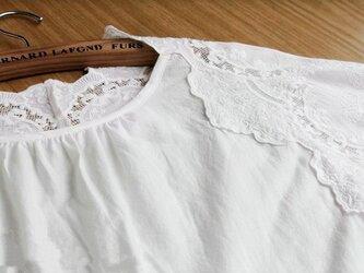 ★訳ありSALE★コットン100%高級刺繍レース生地五分袖チュニック♪の画像