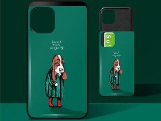 「犬見知りの犬」ICカード収納付きiPhoneケースの画像