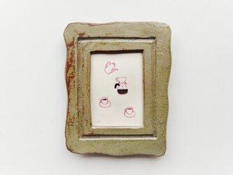 「コーヒータイム」イラスト原画 ※陶器の額縁入りの画像