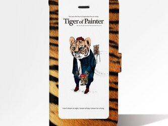 Original手帳型iPhoneケース「Tiger of Painter」の画像