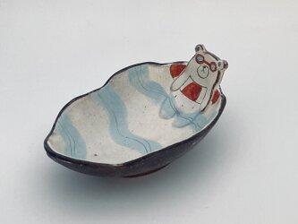 小皿・白くまの海水浴の画像