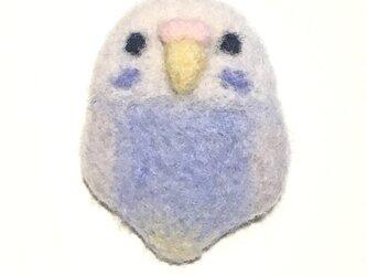 「セキセイインコ」羊毛ブローチの画像