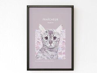 フレーム付きA3ポスター「Cat」 送料込みの画像