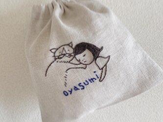 おさんぽ巾着ミニ おやすみの画像