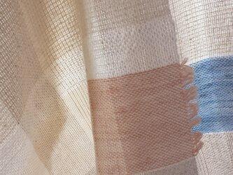 【手織り】生成りのストール#03の画像