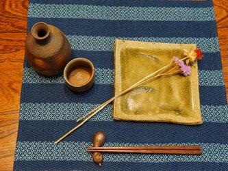 本藍染め 模様織 ランチョンマット MAT204の画像