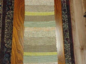 シルク 裂き織り ロングマット MAT201の画像