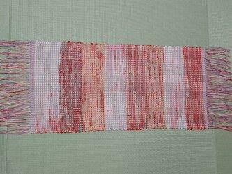 シルク 裂き織り テーブルセンター MAT202の画像