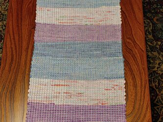 シルク 裂き織り テーブルセンター MAT203の画像