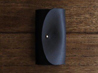 草木染・インディゴブラックのキーケースの画像