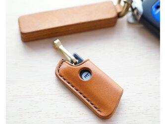 【新作】栃木レザーのエネキーカバー 真鍮フック付き ENEOS EneKey【選べる革とステッチ】【名入れ無料】の画像