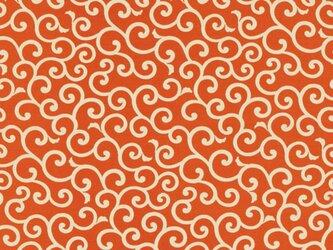 風呂敷 ふろしき お弁当包み 友禅唐草 綿100% 50cm×50cm(色:オレンジ)の画像