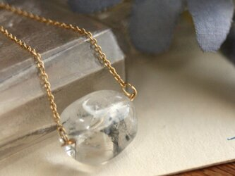 14kgf*天然石クリスタルクオーツ 水晶 ネックレス クリスマス 誕生日 プレゼント 結婚式 パワーストーン 開運の画像