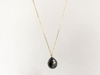 【K14gf/Silver】Tahitian Baroque Pearl Necklaceの画像