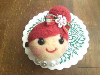 大人気♡オンナノコブローチ(おだんご・ピンク)の画像