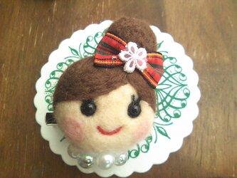 大人気♡オンナノコブローチ(おだんご・茶髪)の画像