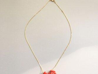レッドコーラル 赤珊瑚のネックレスの画像