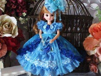 アリスの世界へ誘う夢見る水面のワンピースドレス オーバースカート付豪華5点セットの画像