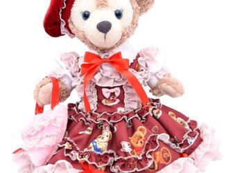 シェリーメイ 服 コスチューム くまちゃんドレス ボルドー 本体無 Sサイズ用 送料無料の画像