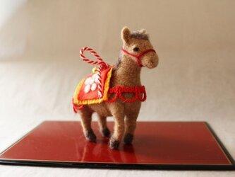 おめかし飾り馬の画像
