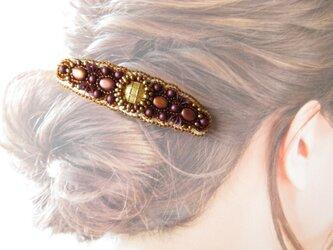 Hair accessory バレッタ ビーズ刺繍 (K1048)の画像