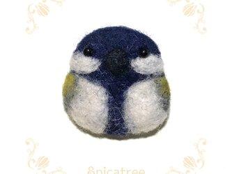 「シジュウカラ」羊毛ブローチの画像