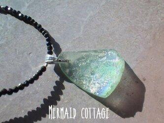 3WAY☆ローマングラス ブラックスピネルネックレス☆ユニセックス☆*Ancient Romanglass Necklaceの画像