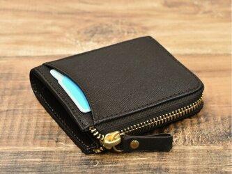 傷がつかない革 サフィアーノレザー コインケース ミニ財布 カード収納4枚 ブラウン 本革 HAK040の画像