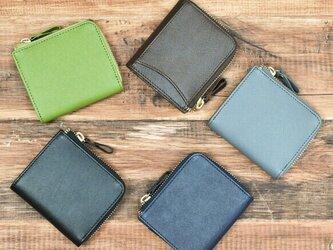 傷がつかない革 サフィアーノレザー コインケース ミニ財布 カード収納4枚 全5色 本革 HAK040の画像