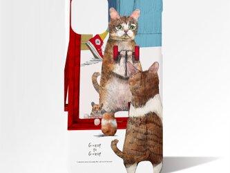Originalスマホケース「トレーニングするネコ」の画像