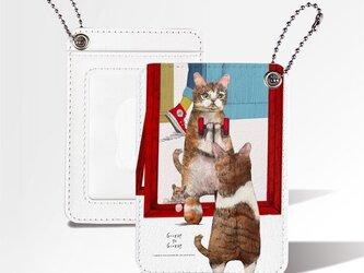 Originalカードケース「トレーニングするネコ」の画像
