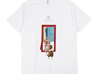 「トレーニングするネコ」 Tシャツ/送料込みの画像