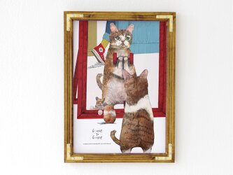 A3ポスター「トレーニングするネコ」の画像