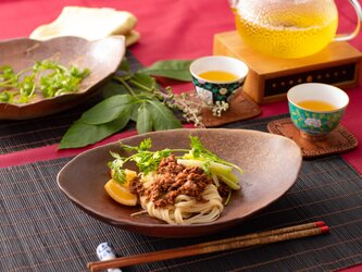 備前焼オーバル皿(L) 耐熱食器(電子レンジ・オーブン対応)の画像
