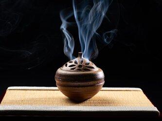 備前焼香炉(菊)の画像