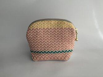 手織りテキスタイル マカロンポーチY- 2の画像