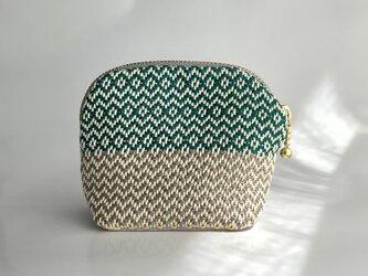手織りテキスタイル マカロンポーチG-1の画像