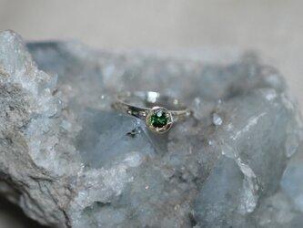 Green Tourmaline/haloring ⭐︎ グリーントルマリン御光留めリングの画像