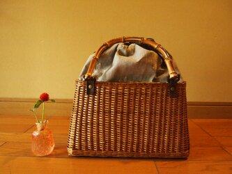 《柳かごバッグ》(送料無料)の画像