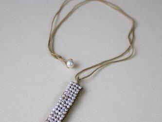 湖水の真珠ペンダント スティック  (co-p004) 受注製作の画像