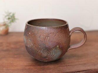 備前焼 コーヒーカップ(丸) c4-077の画像