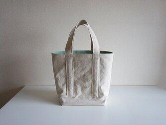 TOTE BAG -bicolor- (L) /  ecru × mintの画像