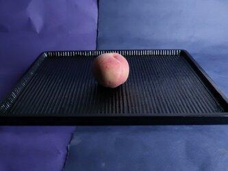 我谷盆写し燻拭き漆仕上げ(#4)。桃は、販売いたしません。の画像