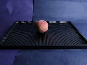 我谷盆写し燻拭き漆仕上げ(#5)。桃は、販売いたしません。の画像