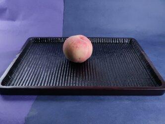我谷盆写し燻拭き漆赤仕上げ(#7)。桃は、販売いたしません。の画像