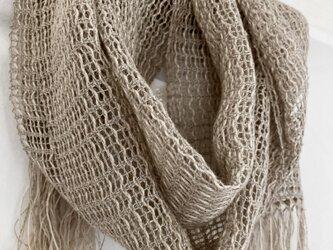 もじり織りリネンストールの画像